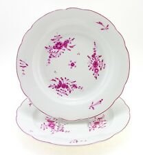 Antique Herend Plate Set Dinner Plate and Rim Soup Bowl Ca. 1884 - 1899