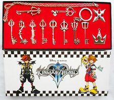 12pcs/Set Kingdom Hearts II KEY BLADE Necklace Pendant+Keyblade+Keychain Silver