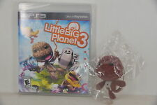 RARE NEW PS3 Little Big Planet 3 (US First Print) + Official Sackboy Plush Doll