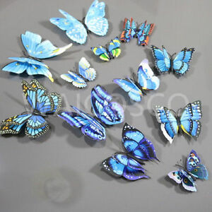 Mixed Size D-Wing MAG 3D Butterfly Home Room Art Design Sticker Decal Fashion UK