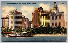 Returning from the Gulf Stream in Miami, Florida Shamrock Fishing Boat Postcard