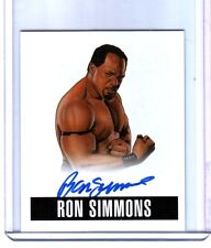 Ron Simmons RS1 2014 Leaf Originals Wrestling Authentic On Card Autograph DWC