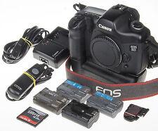 Canon EOS 5D DSLR +BG-E4 grip +4 batt., 4Gb CF, 5,6k clicks *excellent condition