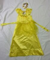 Disney Girls Costume Dress Small Yellow Belle Beauty & the Beast Princess No Tag