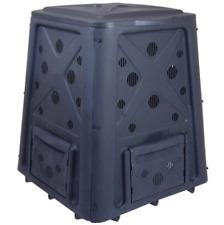 Outdoor Compost Bin 65 Gallon Garden Backyard Kitchen Food Waste Composter Black