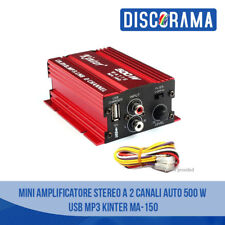 MINI AMPLIFICATORE STEREO A 2 CANALI AUTO 500 W USB MP3 KINTER MA 150
