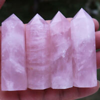 100% Fashion Natural Rock Pink Rose Quartz Crystal Stone Point Healing Wand