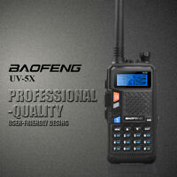 Baofeng UV-5X UHF+VHF DTMF Dual Band/Watch 2 Way Radio Walkie Talkie FM+Earpiece