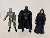 Lot Of 3 1997 Kenner Star Wars POTF Emperor Moff Tarkin, Darth Vader, & Emperor