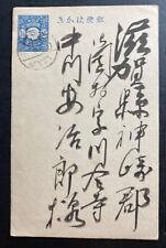 1930s Japan Postal Stationery Postcard Blue Cover B