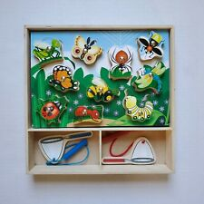 MELISSA & DOUG Wooden MAGNETIC BUG CATCHING PUZZLE Game