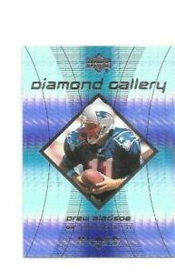 NEW ENGLAND PATRIOTS DREW BLEDSOE 1999 UD DIAMOND GALLERY INSERT FB CARD #G4