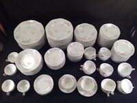 Haviland Limoges France 135 Piece Set Pink Floral