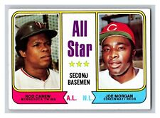 1974 Topps All-Star Rod Carew Joe Morgan Twins Reds #333 (KCR)
