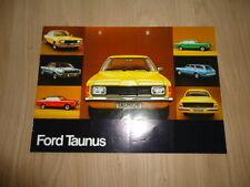 FORD TAUNUS BROCHURE / PROSPEKT 1975