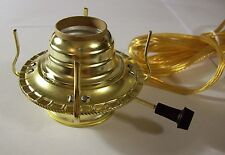 BRASS PLATED #2 ELECTRIC BURNER WITH CLEAR GOLD CORD SET FOR OIL LAMP NEW 70160J