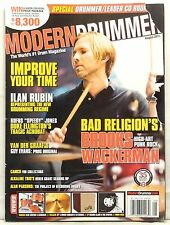 MODERN DRUMMER MAGAZINE BROOKS WACKERMAN BAD RELIGION ILAN RUBIN DUKE ELLINGTON!