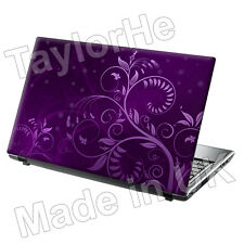 "17 ""Laptop SKIN Cover Adesivo Decalcomania Viola Floreale 32"