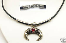 Rugged Necklace, Rubber 2.5 mm Cord Lobster Clasp 17""