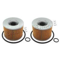 2x Oil Filter For KAWASAKI KZ440 KZ550 KZ650 KZ1000 KZ1100 Replace HF401 KN401