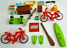 Lego Exterior Accesorios Para Minifiguras Bicicleta Surf Patineta Casco Etc