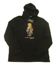 Polo Ralph Lauren Men's Black Holiday Polo Bear Graphic Hooded T-Shirt