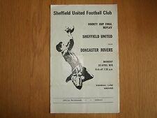 Sheffield United v Doncaster Rovers-County Taza-Mon 20th de abril de 1970