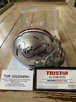 Tom Cousineau Autographed/Signed Mini Helmet TRISTAR COA Ohio St Buckeyes B