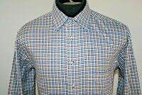 Jos A Bank Mens Tailored Fit Long Sleeve Button Front Shirt Size M Medium Checks