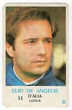 1986 PORTUGESE TASCA Calendario F1 ITALIANO LOTUS TEAM PILOTA ELIO DE ANGELIS
