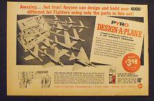 1960 Pyro Airplane~Plane Jet Aircraft Kids-Boys Model Kit Toy Promo Print AD