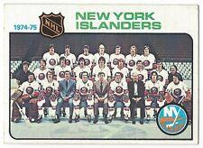 1975-76 TOPPS HOCKEY #92 ISLANDERS CHECKLIST - NEAR MINT-