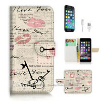 ( For iPhone 7 ) Wallet Case Cover P2747 Love