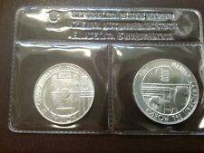 """1986  - L. 500 + L. 1.000 in Ag commemorativo """"Mondiali"""" Fondo specchio"""