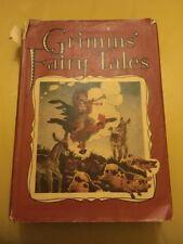 Vtg Grimms' Fairy Tales UK Hardcover DJ 1949 Ed Folkard Drawings Dent & Dutton