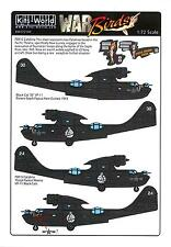 """Kits World Decals 1/72 CONSOLIDATED PBY-5 CATALINA 2 """"BLACK CAT"""" VERSIONS"""