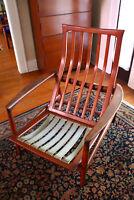 Mid Century Modern Wooden Teak Chair READ Germany 1950s 1960s German Import ASIS