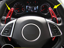 2pcs Red Alloy Steering Wheel Shift Paddle Shifter for Chevrolet Camaro 2016