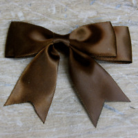 """5x 85mm approx Large Double Bows Satin Ribbon Bows With Tails  3"""" wide Beautiful"""