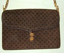 a015c40857f Genuine Gucci - Brown Suede Leather Shoulder Bag - Goldtone Chain Straps    Clasp