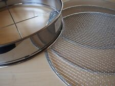 Stainless Steel Bonsai Filter Mesh Soil Sieve Coarse Medium Fine set 370mm F/S