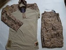 USMC FROG Desert MARPAT Ensemble Top and Trousers Size Medium-Regular