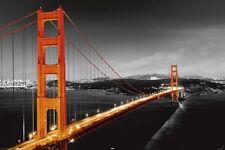 San Francisco Golden Gate Bridge Contrast photo Poster Art Print SF Home decor