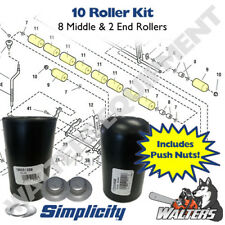 10 Roller Set (8) 1668513 Middle & (2) 1722036 End Rollers   Genuine Simplicity