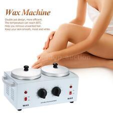 220W Double Pot Wax Machine Waxing Warmer Paraffin Electric Wax Heater W2D4