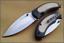 Couteau Browning Cayman Folder Tan Acier 440 Manche Alu/Abs Tan BR0036