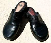 Earth Origins Women's Size 8.5 M Mules Black Clogs Leather Comfort Shoes    /1