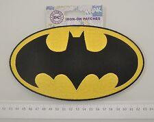 Patch toppa Batman logo originale grande ricamata supereroi cm20x11