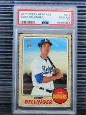 2017 Topps Heritage Cody Bellinger Rookie Card RC #678 PSA 10 Dodgers K54