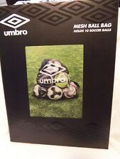 New Umbro Mesh Drawstring Ball Bag Holds 10 Soccer Balls